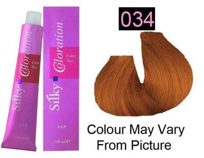 Silky Coloration Haarverf 034 Golden Copper 100ml