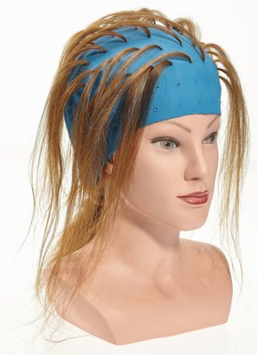 Efalock rubbere blondeermuts blauw