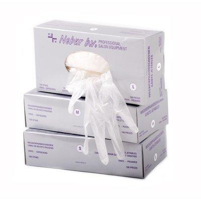 Nebur/ Meditrade Vinyl Handschoenen Maat L - Gepoederd 100 stuks