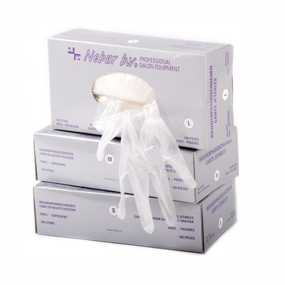 Nebur Vinyl Handschoenen Maat M - Gepoederd 100 stuks